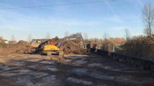 Grondwerk uitgraven bouwput rupskraan 1