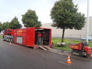 Heiwerk container vrachtwagen